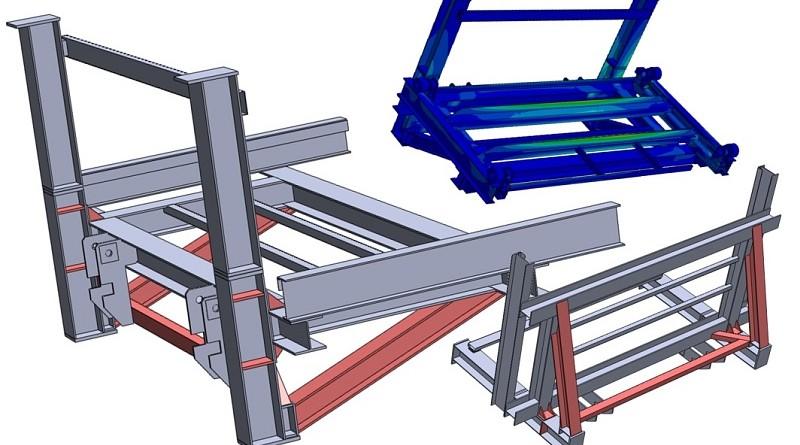 Verifica strutturale di un sollevatore per automobili