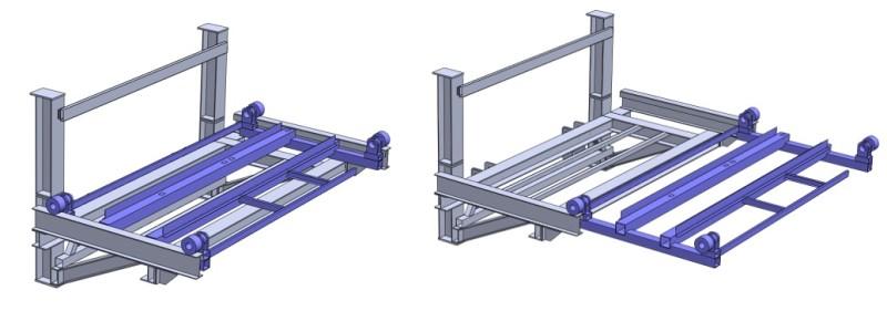 Componenti del sollevatore (geometria preparata per l'analisi FEM)